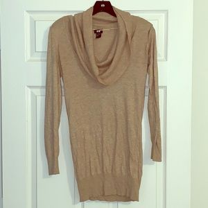 H&M Tan Cowl-neck Sweater - Super Soft - Size S